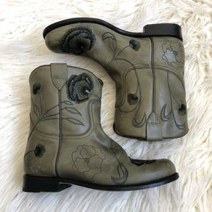 Anthropologie Aerin Floral Embroidered Boots